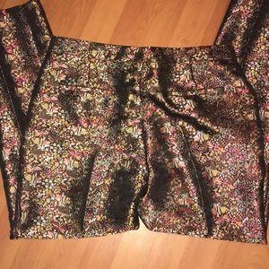 Metallic design dress pants